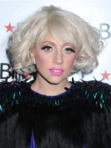 Curly Chin Length Synthetic 0 Modern Best Lady Gaga Wigs
