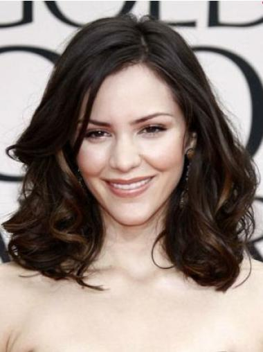 Fabulous Wavy Without Bangs Katharine Mcphee Human Lace Wigs On Sale