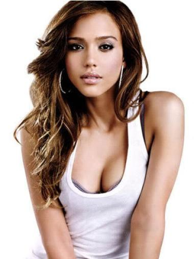 Wavy Lace Front Auburn Remy Human Hair Jessica Alba Inexpensive Human Hair Wig