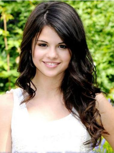 Without Bangs Wavy Long Sleek Selena Gomez Wigs