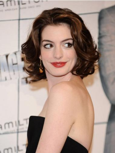 Auburn Wavy Chin Length Incredible Anne Hathaway Wigs