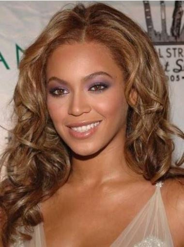 "Lace Front Auburn Without Bangs 16"" Beautiful Beyonce Human Hair Long Auburn Wig"