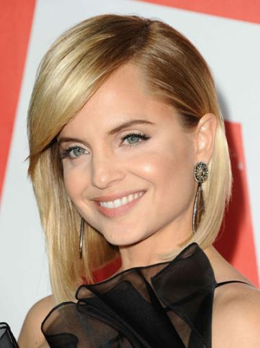 Celebrity Style Wigs With Bangs Straight Chin Length Synthetic Gorgeous Mena Suvari