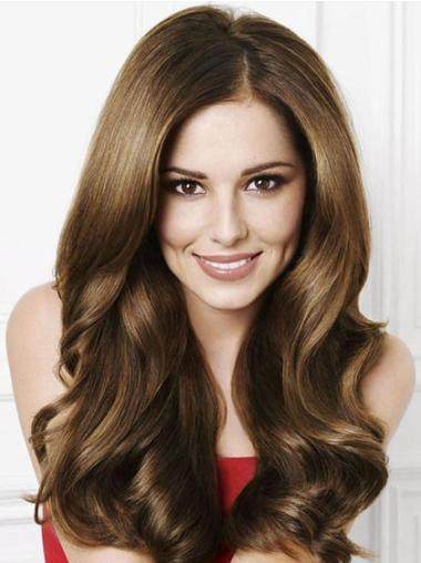 Capless Without Bangs Synthetic Cheryl Cole Long Wavy Wigs