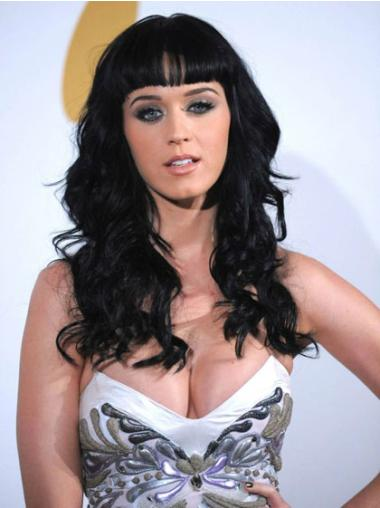 Black Long Synthetic Durable Katy Perry Wigs