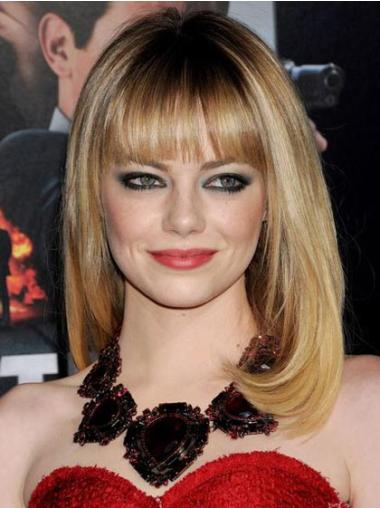 Capless With Bangs 16 Inches Emma Stone Wigs