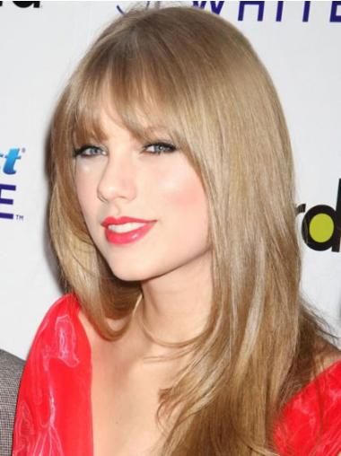 Capless Long Synthetic Top Taylor Swift Looking Wigs