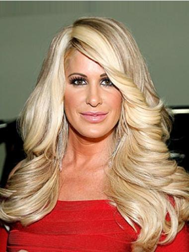 Blonde Curly Chin Length Natural Wigs Worn By Kim Zolciak