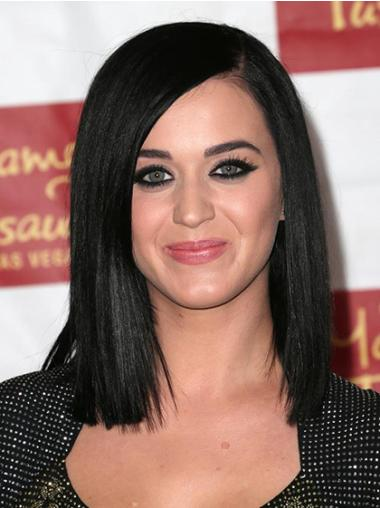 Black Shoulder Length Synthetic No-Fuss Katy Perry Black Wig