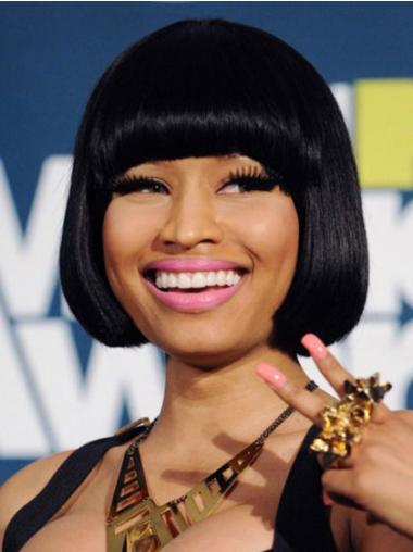 Capless Black Bobs Flexibility Nicki Minaj Wigs