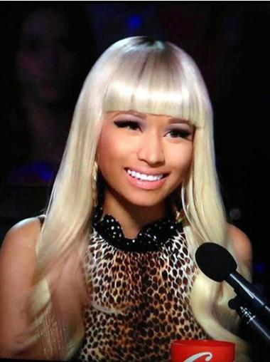 Blonde With Bangs Long Fabulous Nicki Minaj Blonde Wig For Sale
