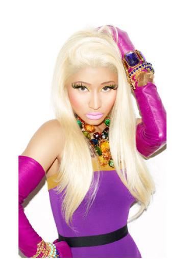 Capless Blonde Without Bangs Sleek Nicki Minaj Wig