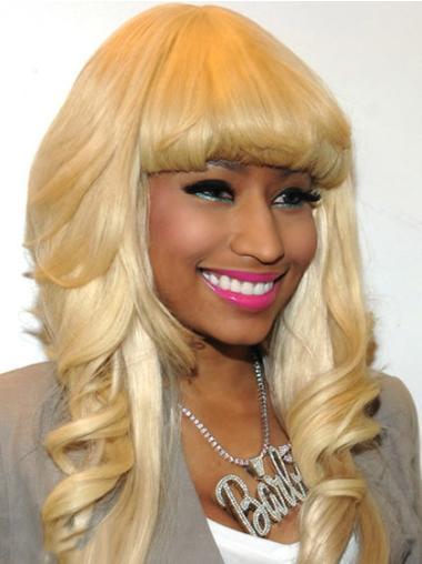 Blonde With Bangs Long Online Nicki Minaj Cheap Wig