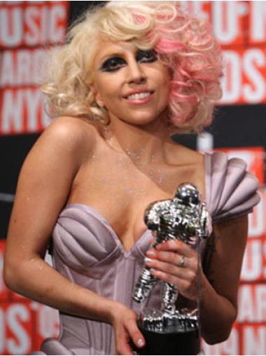 Wavy Shoulder Length Synthetic 12 Inches Hairstyles Lady Gaga Artrave Wig