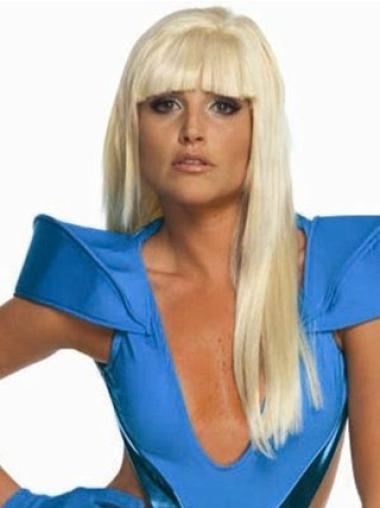 Straight Long Synthetic 22 Inches Top Lady Gaga Wigs Cheap