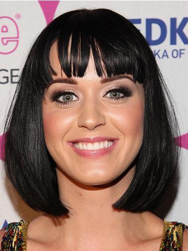 Black Chin Length Synthetic Perfect Katy Perry Shiny Wig