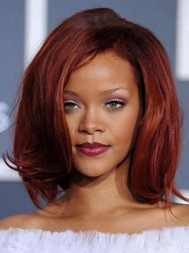 Capless Without Bangs Chin Length Great Rihanna Celebrity Inspired Wigs
