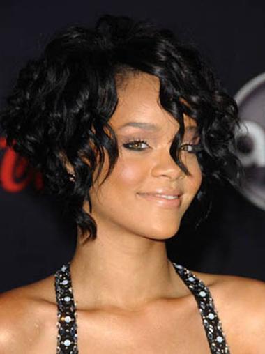 Capless Black Layered No-Fuss New Rihanna Wig Outre