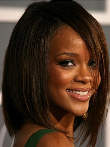 Capless Brown Bobs Fashionable Rihanna Bob Wigs