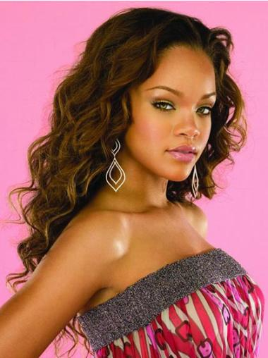 Capless Without Bangs Long Convenient Rihanna Celebrity Wig Lines