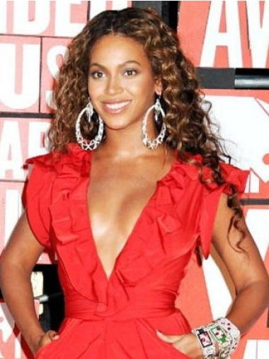 Brown Synthetic Beyonce With Curly Wig