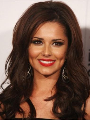 "Auburn 22"" Without Bangs No-Fuss Cheryl Cole Long Human Hair Wigs For Sale"