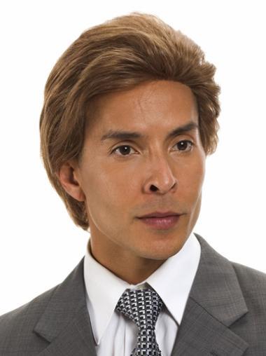 Brown Short Best Wigs For Older Men
