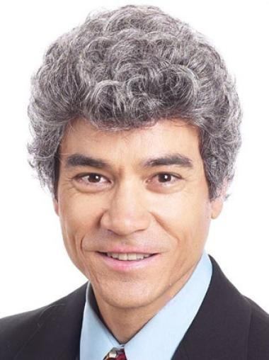 Curly Short Synthetic Style Good Wigs For Men