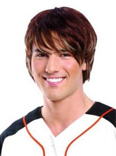 Auburn Short Popular Lace Front Wigs For Men