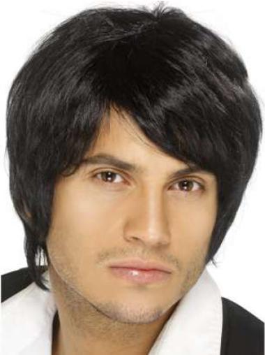 Short Remy Human Hair Modern Quality Mens Wigs