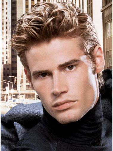 Lace Front Straight Perfect Real Hair Mens Wigs
