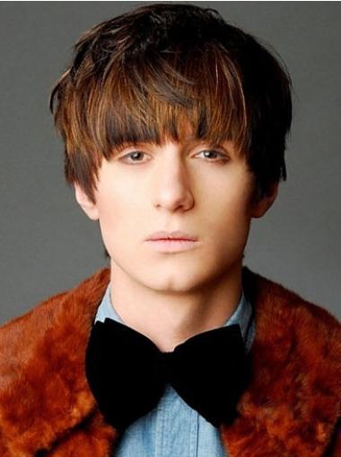 Brown Short Amazing Human Wigs For Men