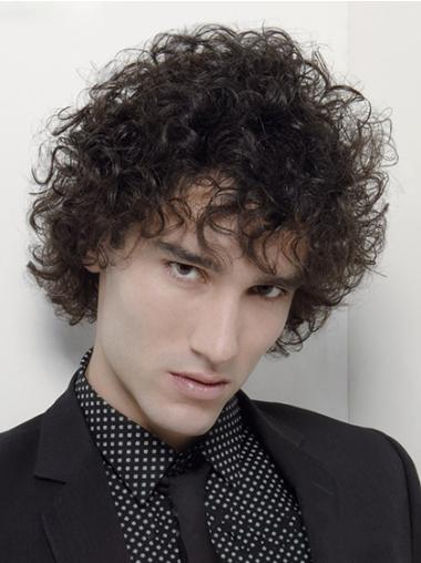 Capless Synthetic Trendy Men Curly Hair Wig