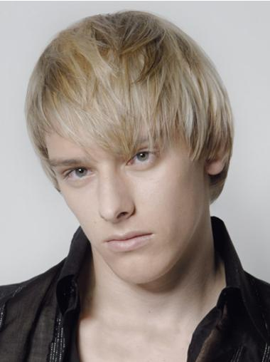 Blonde Short Great Hair Wigs Mens