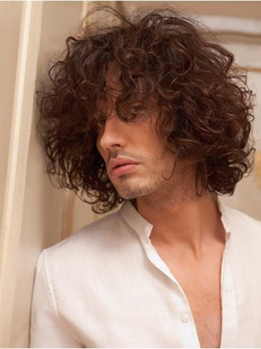 Auburn Short Exquisite Mens Curly Wig