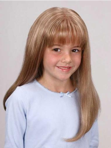 Sleek Blonde Lace Front Wig For Kid