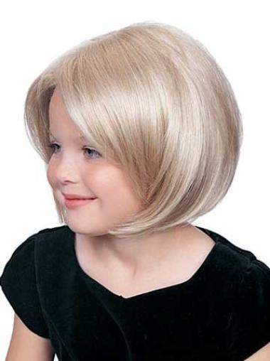Modern Lace Front Blonde Straight Kids Wigs