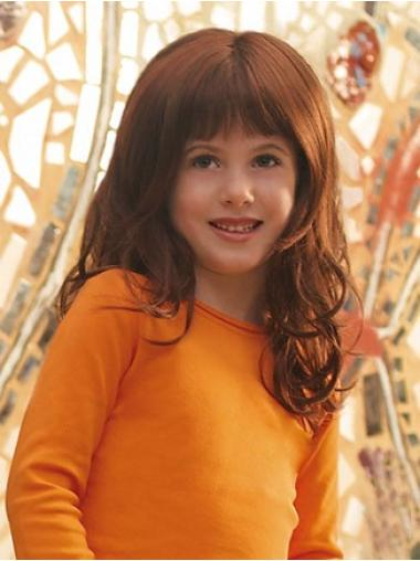 Auburn Curly Synthetic Amazing Kids Wig With Lace
