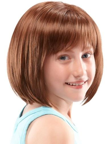 Fabulous Lace Front Auburn Straight Kids Wigs