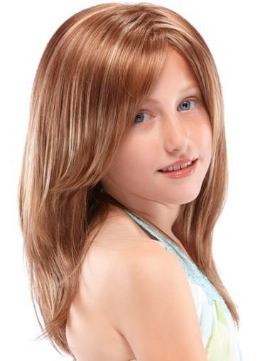 Auburn Straight Long Flexibility Synthetic Lace Wigs