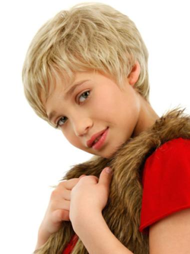 Cheap Lace Front Blonde Wavy Kids Wigs For Sale