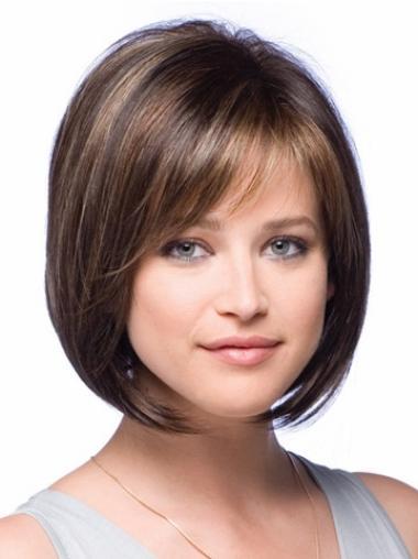 Bobs Chin Length Convenient Lace Front Petite Wigs