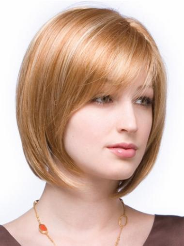 Auburn Chin Length Gorgeous Synthetic Bob Lace Front Wig