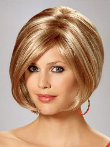Synthetic Straight Blonde Capless Bob Wigs