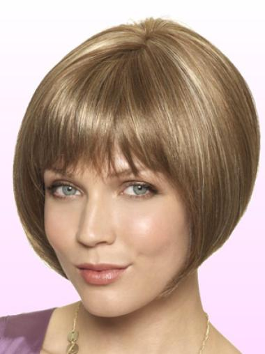 Blonde Suitable Bob Short Lace Front Synthetic Wigs