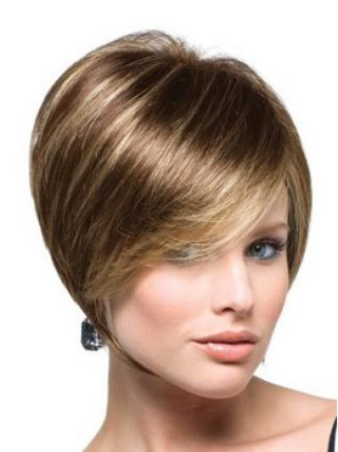 Synthetic Straight Brown Capless Wigs Short Bob