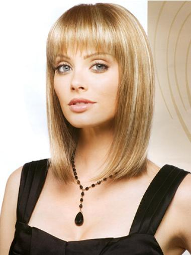 Bobs Shoulder Length 13 Inches Affordable Monofilament Synthetic Wigs