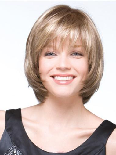 Chin Length Synthetic Blonde Capless Bob Wig Style