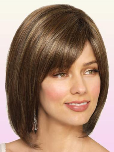 Brown Bobs Synthetic Beautiful Natural Look Lace Wig