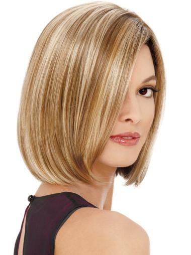 Blonde Chin Length High Quality Bob Affordable Synthetic Lace Front Wigs